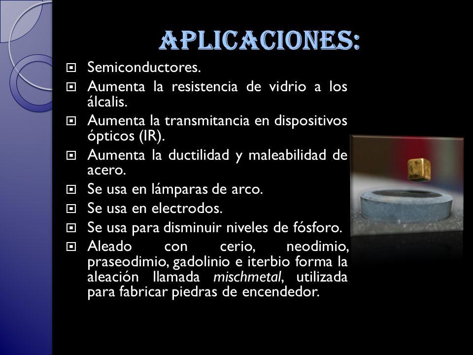 aplicaciones: Semiconductores.
