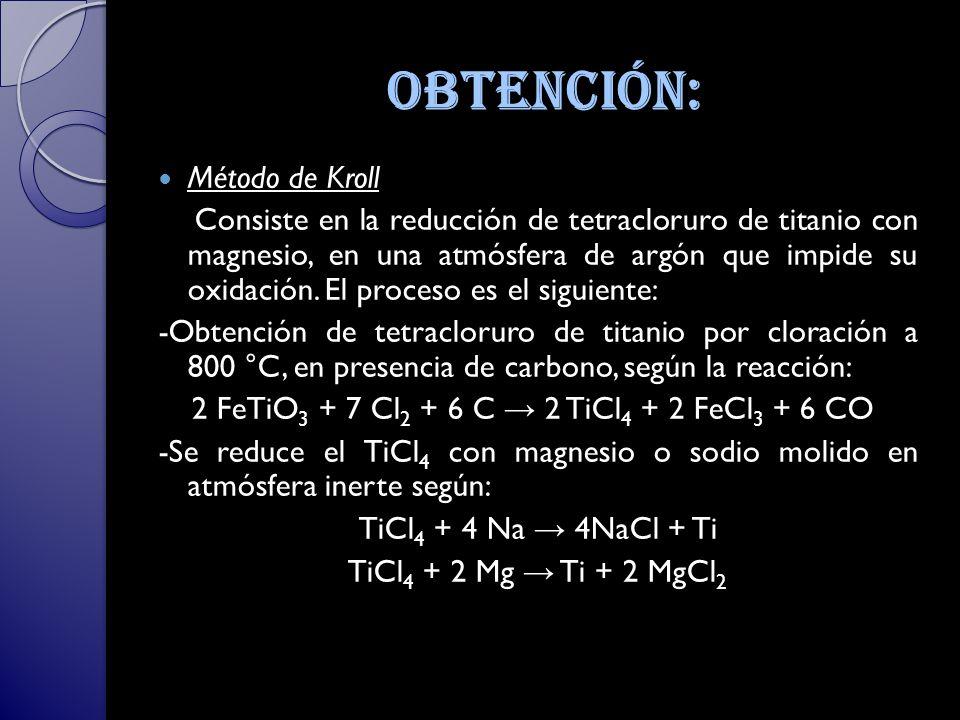 Obtención: Método de Kroll