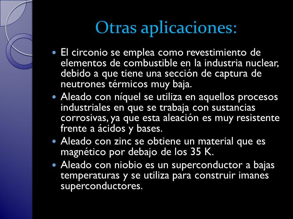 Otras aplicaciones: