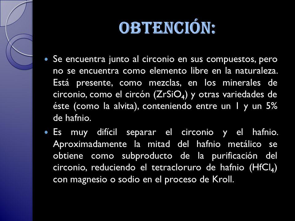 Obtención: