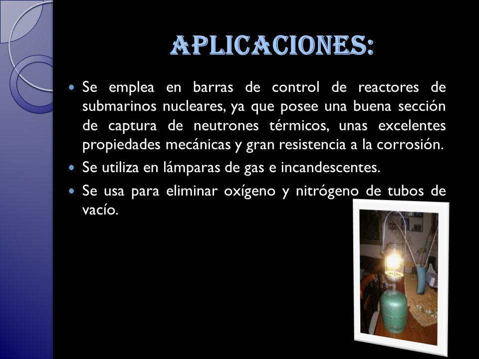 aplicaciones:
