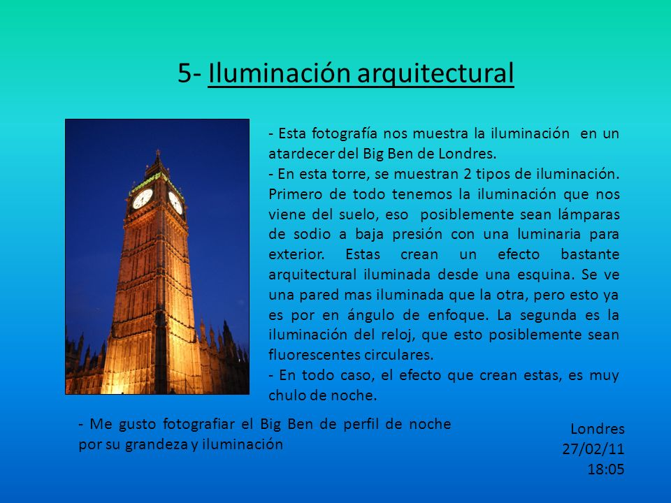 5- Iluminación arquitectural