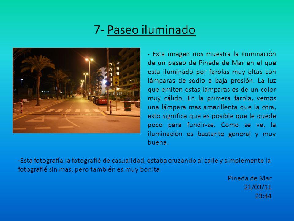 7- Paseo iluminado