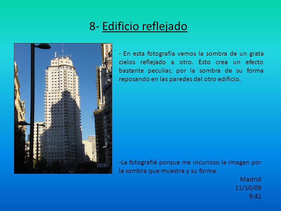 8- Edificio reflejado