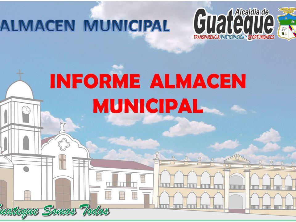INFORME ALMACEN MUNICIPAL