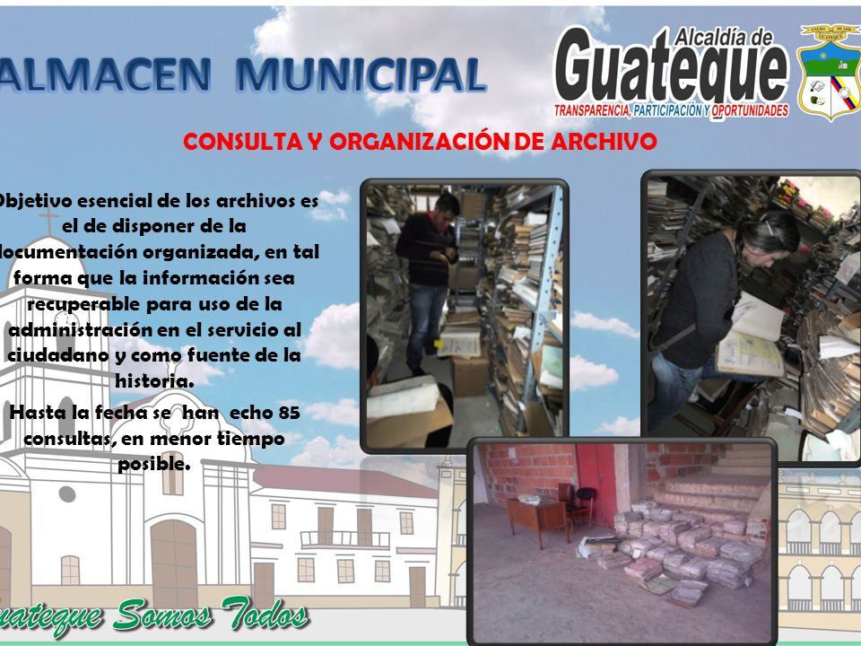 CONSULTA Y ORGANIZACIÓN DE ARCHIVO