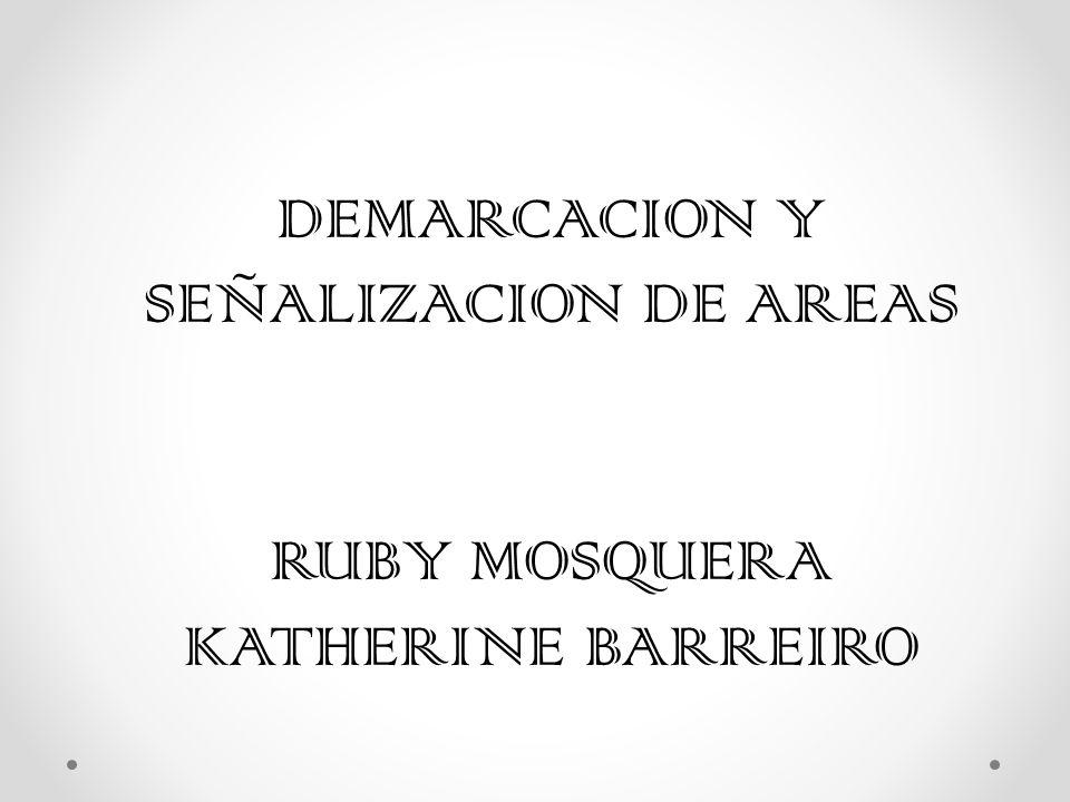 DEMARCACION Y SEÑALIZACION DE AREAS