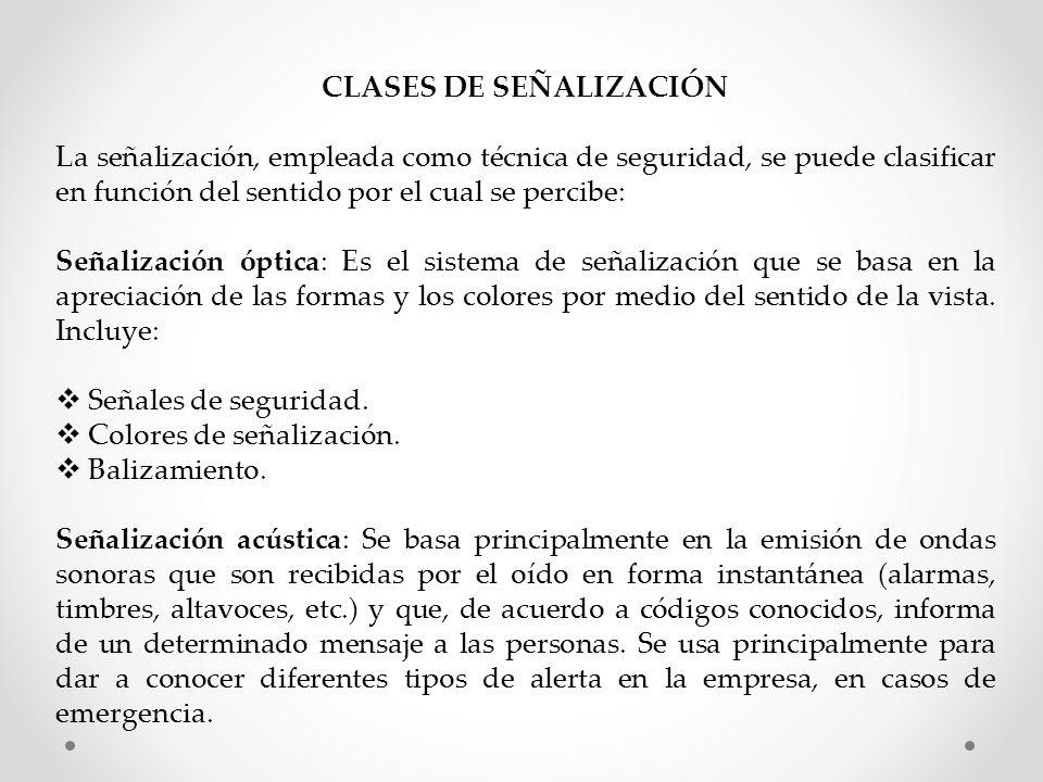 CLASES DE SEÑALIZACIÓN