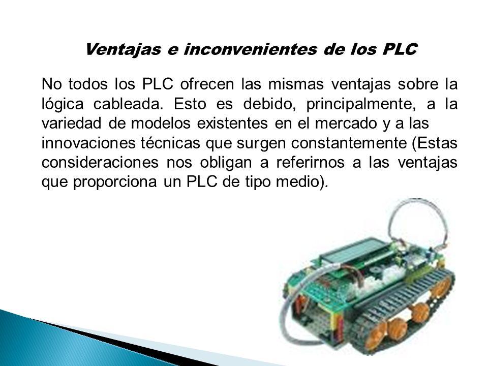 Ventajas e inconvenientes de los PLC