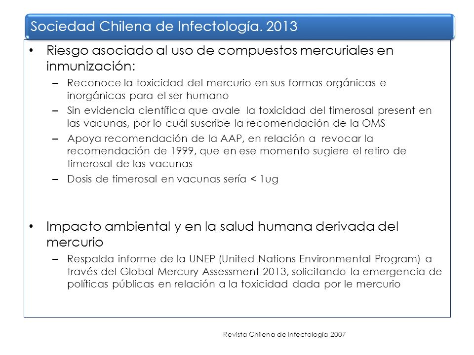 Sociedad Chilena de Infectología. 2013