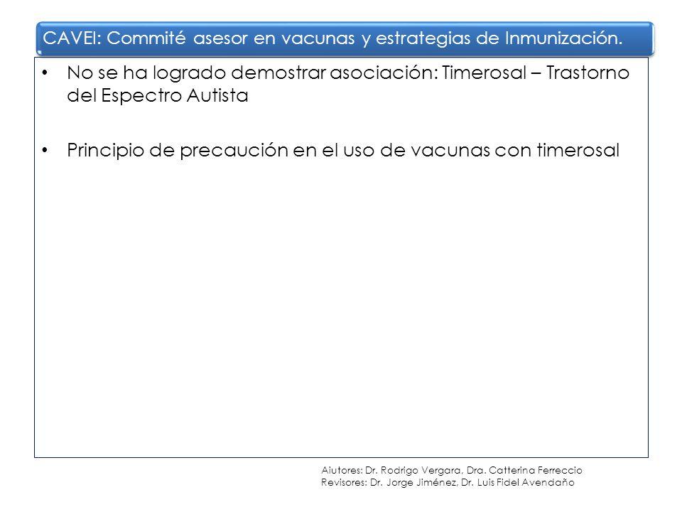 Principio de precaución en el uso de vacunas con timerosal