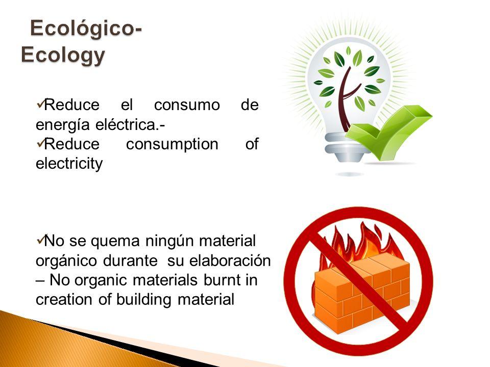 Ecológico-Ecology Reduce el consumo de energía eléctrica.-