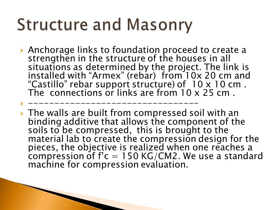 Structure and Masonry