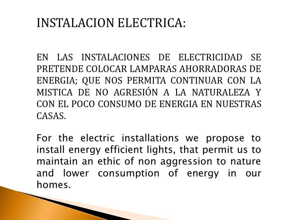 INSTALACION ELECTRICA: