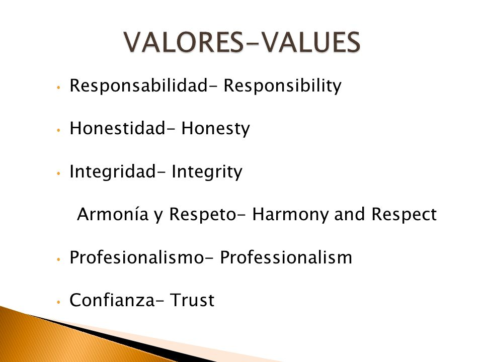 Armonía y Respeto- Harmony and Respect