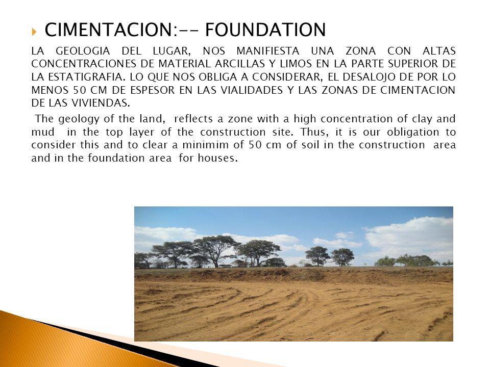CIMENTACION:-- FOUNDATION