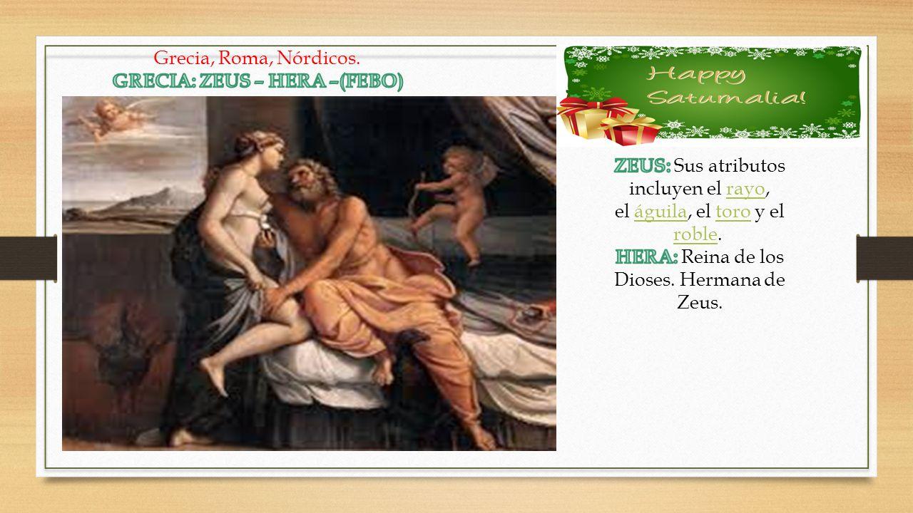 GRECIA: ZEUS – HERA –(FEBO)