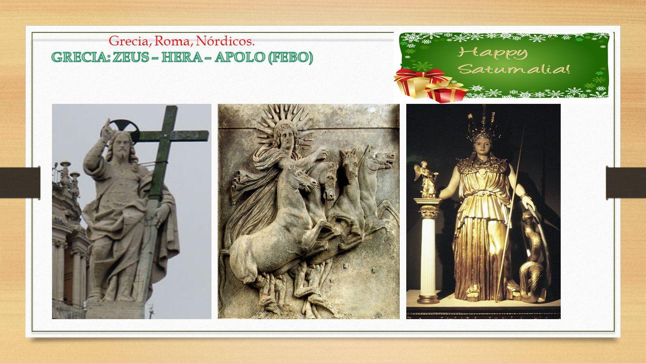 GRECIA: ZEUS – HERA – APOLO (FEBO)