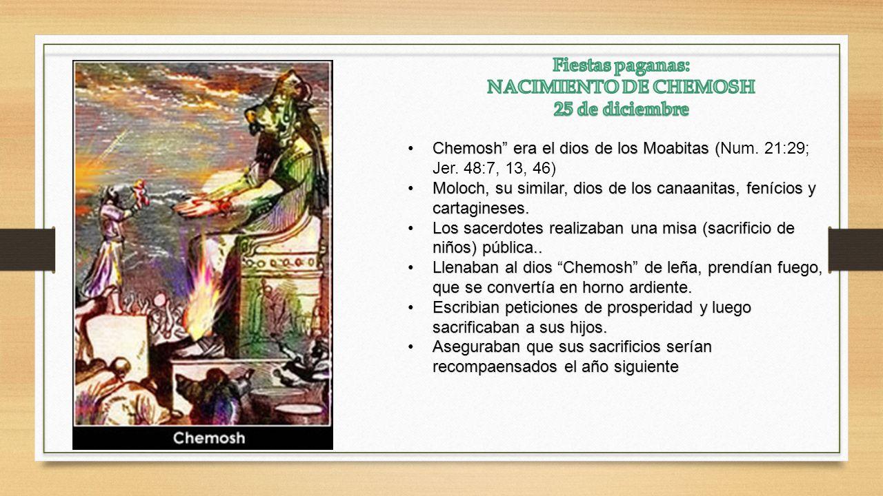 Fiestas paganas: NACIMIENTO DE CHEMOSH 25 de diciembre