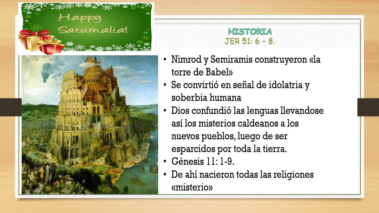 HISTORIA JER 51: 6 – 8.