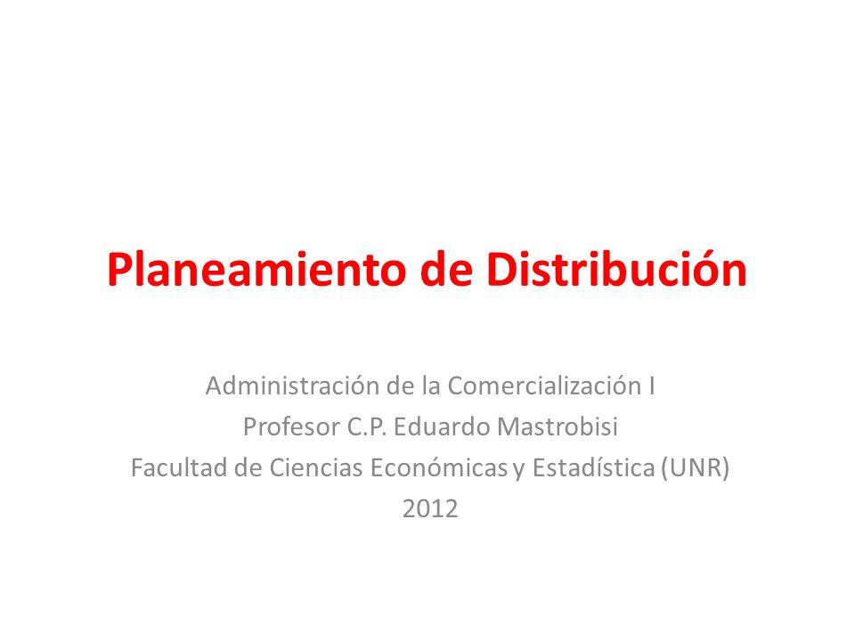 Planeamiento de Distribución