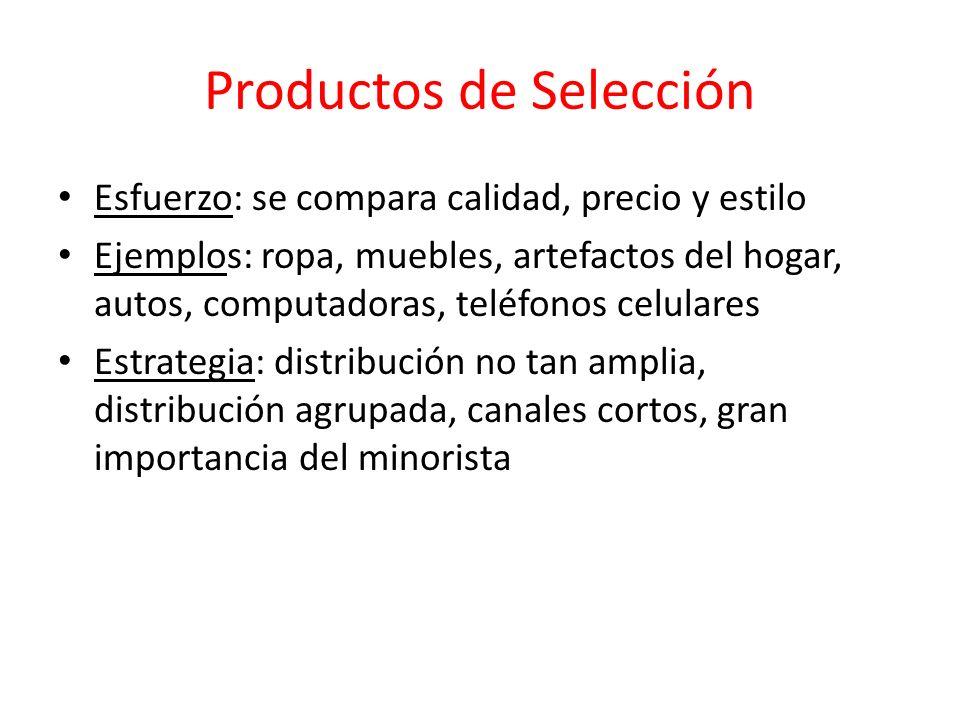Productos de Selección