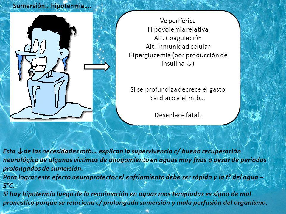 Sumersión… hipotermia….