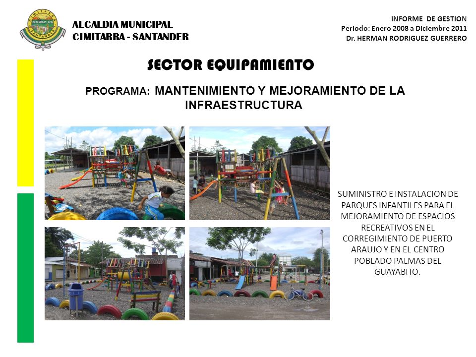 PROGRAMA: MANTENIMIENTO Y MEJORAMIENTO DE LA INFRAESTRUCTURA
