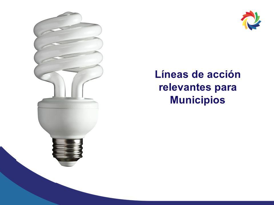 Líneas de acción relevantes para Municipios