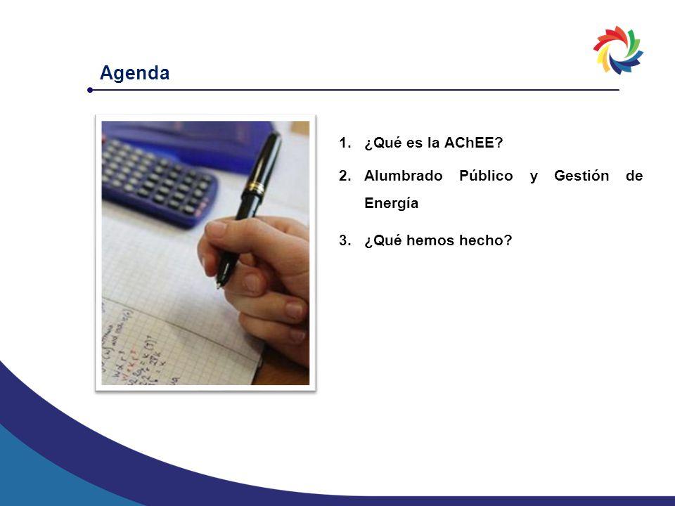 Agenda ¿Qué es la AChEE Alumbrado Público y Gestión de Energía