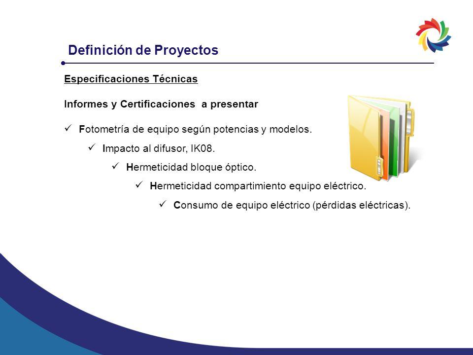 Definición de Proyectos