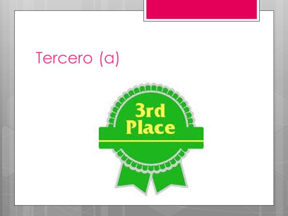 Tercero (a)