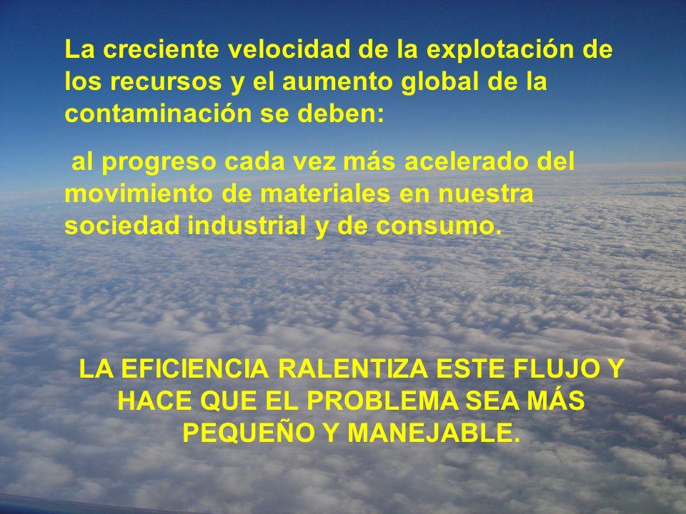 La creciente velocidad de la explotación de los recursos y el aumento global de la contaminación se deben: