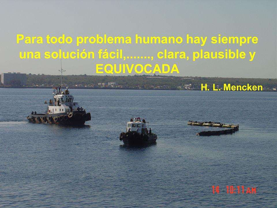 Para todo problema humano hay siempre una solución fácil,