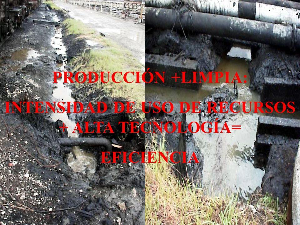 INTENSIDAD DE USO DE RECURSOS + ALTA TECNOLOGÍA=