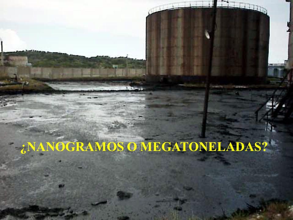¿NANOGRAMOS O MEGATONELADAS