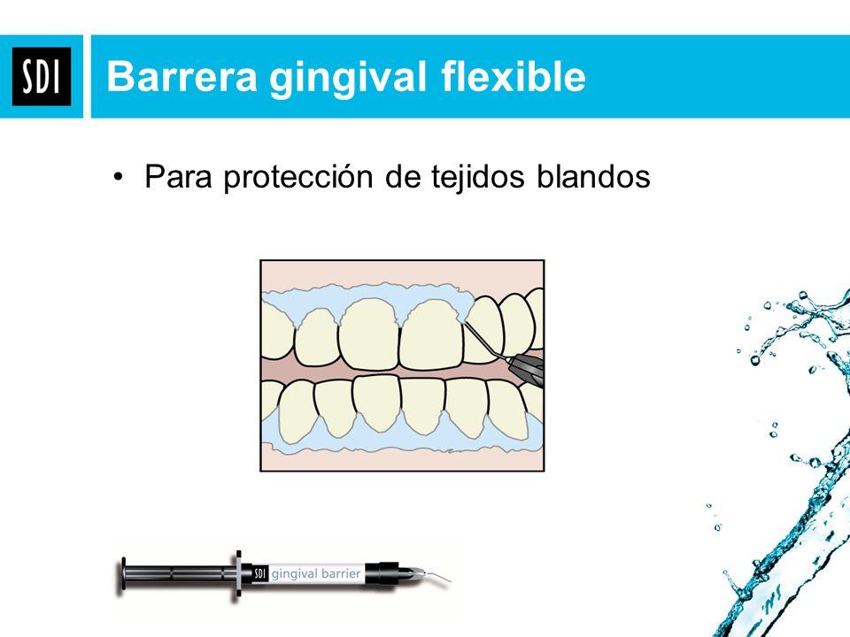 Barrera gingival flexible