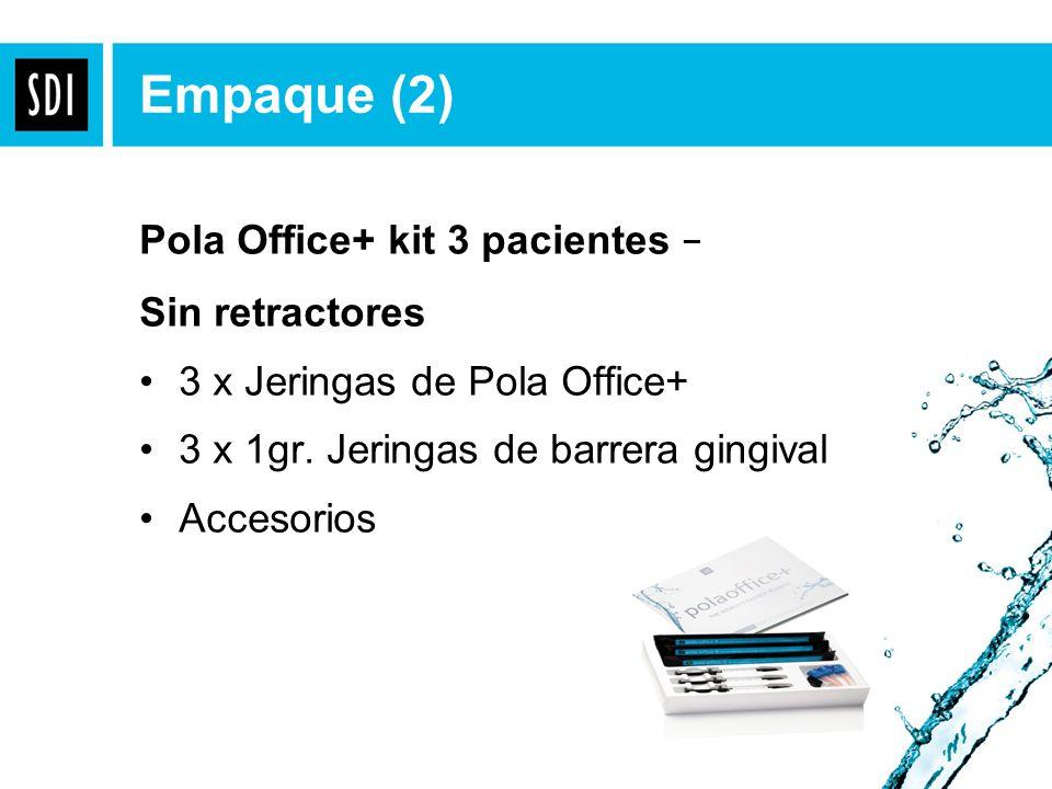 Empaque (2) Pola Office+ kit 3 pacientes – Sin retractores