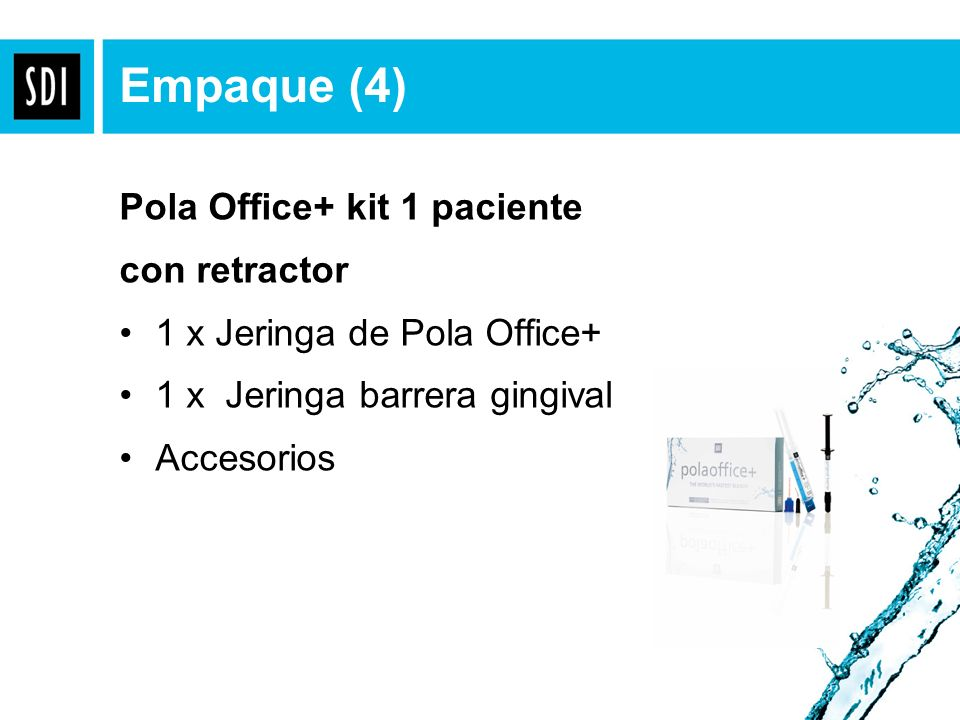 Empaque (4) Pola Office+ kit 1 paciente con retractor