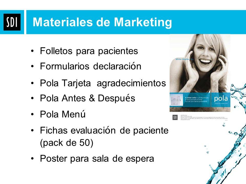 Materiales de Marketing