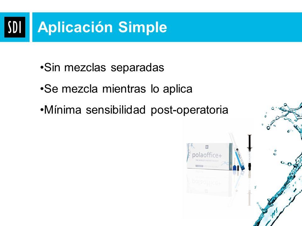 Aplicación Simple Sin mezclas separadas Se mezcla mientras lo aplica