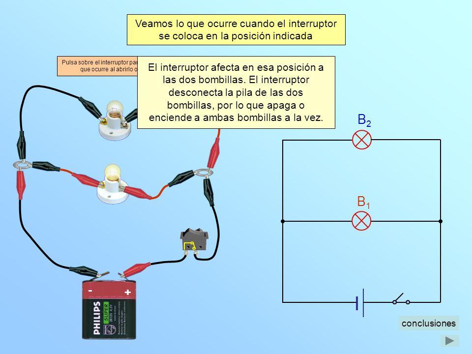 Veamos lo que ocurre cuando el interruptor se coloca en la posición indicada
