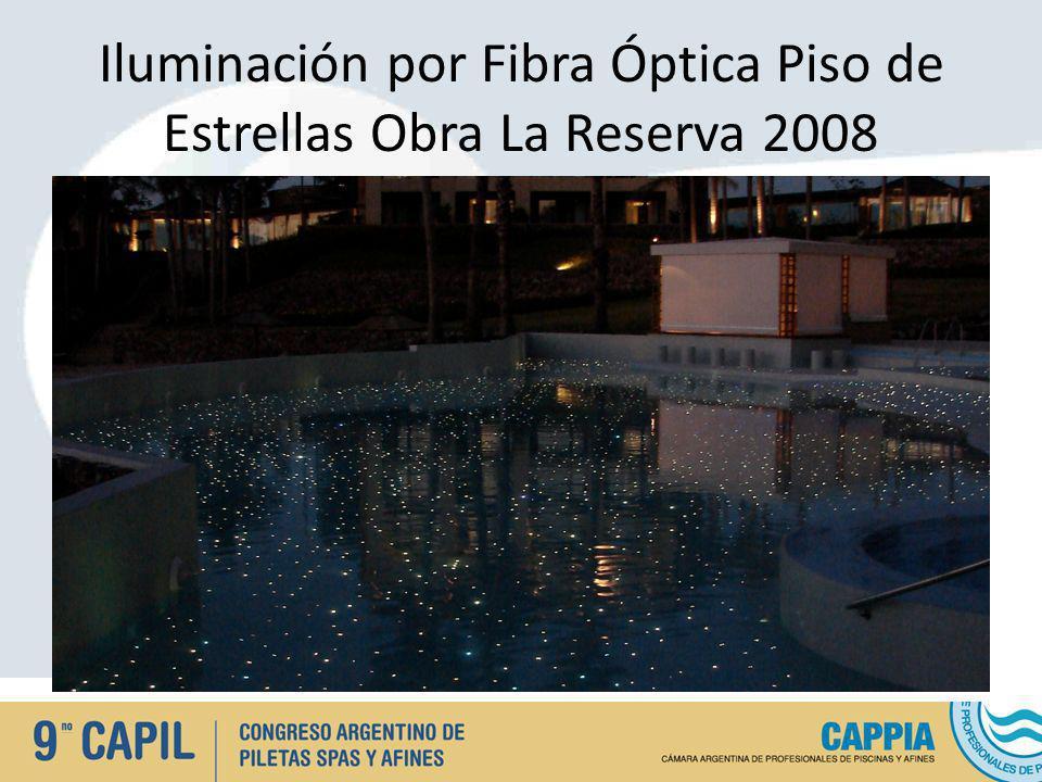 Iluminación por Fibra Óptica Piso de Estrellas Obra La Reserva 2008