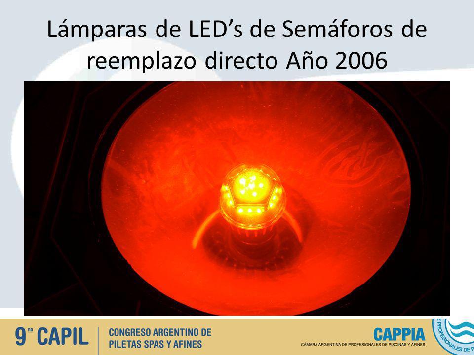 Lámparas de LED's de Semáforos de reemplazo directo Año 2006