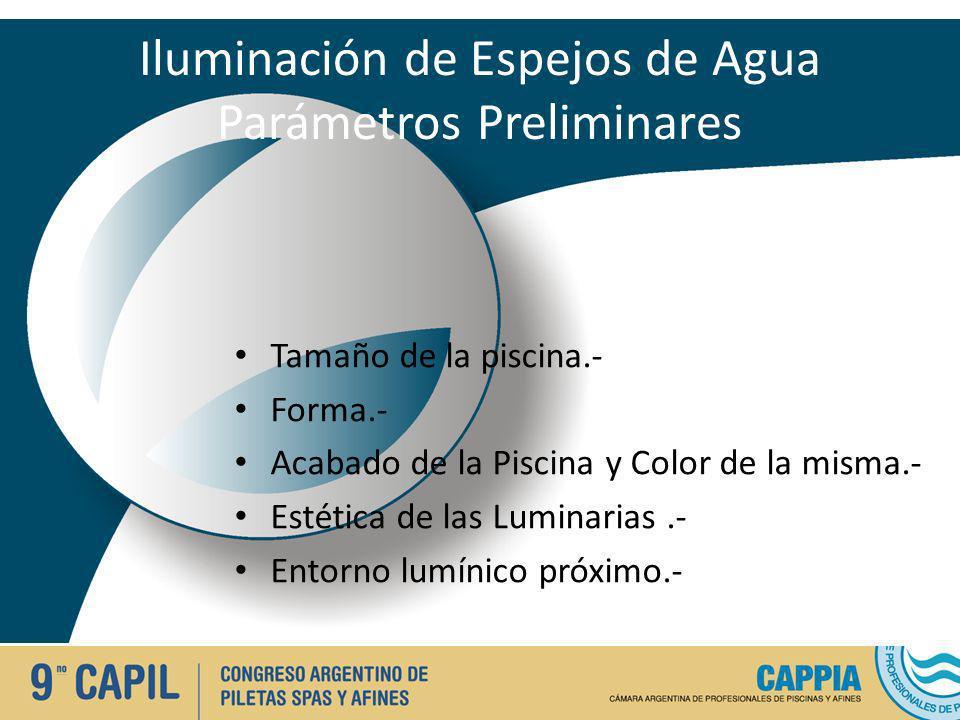 Iluminación de Espejos de Agua Parámetros Preliminares
