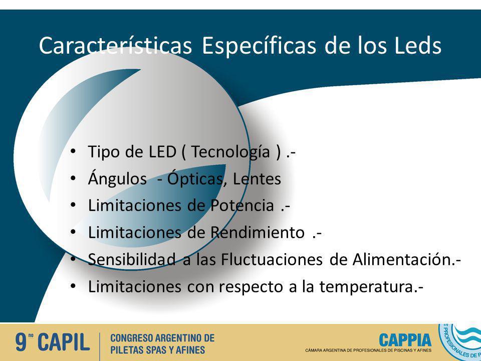 Características Específicas de los Leds