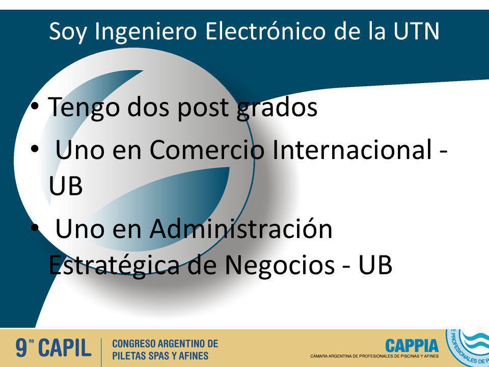 Soy Ingeniero Electrónico de la UTN