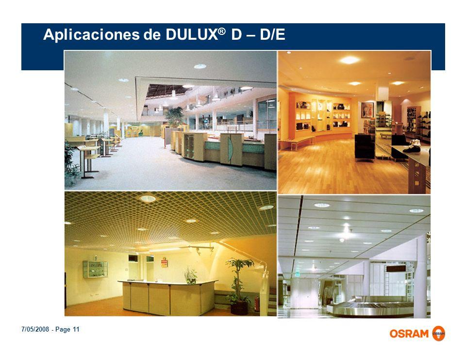 Aplicaciones de DULUX® D – D/E