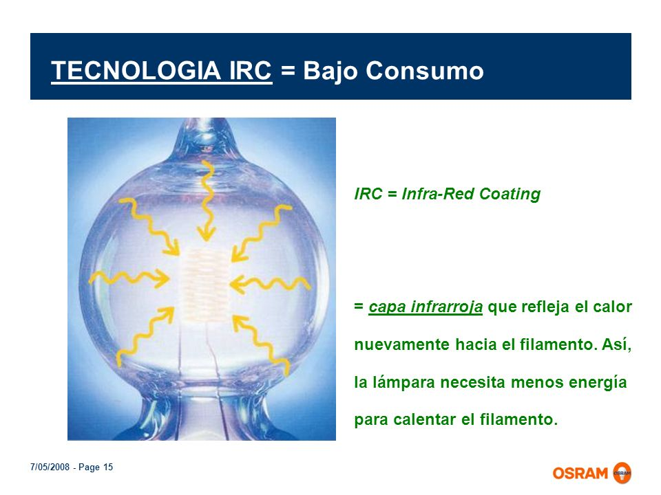 TECNOLOGIA IRC = Bajo Consumo