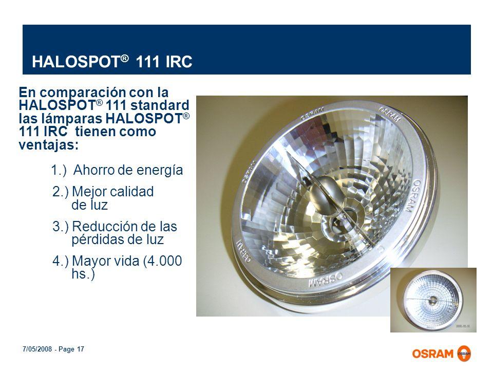 HALOSPOT® 111 IRC 1.) Ahorro de energía